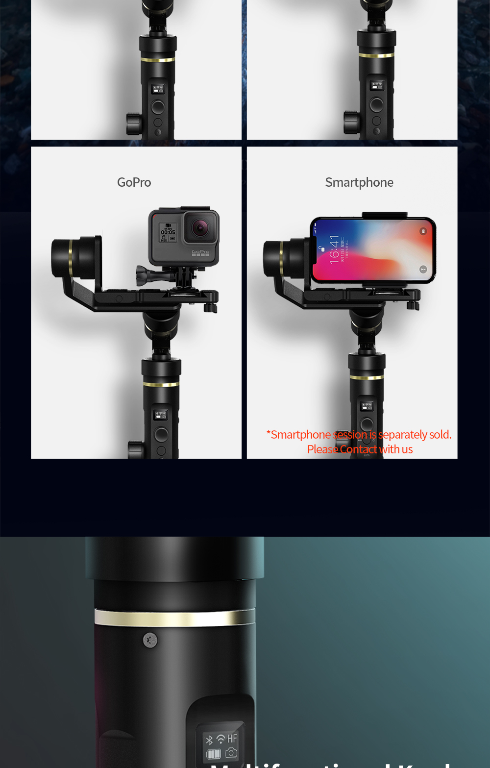 FeiyuTech G6 Plus 3-Axis Handheld Gimbal Stabilizer for Mirrorless Camera Pocket Camera GoPro Smartphone Payload 800g Feiyu G6P 3