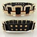 Grandes de la moda Femenina hebilla de Metal cinturones de Cintura Elástica botón de metal cuadrada cinturones Anchos para Las Mujeres amplia Accesorios de Vestir decoración