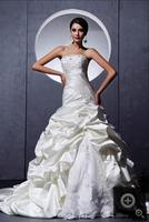 winter dress mermaid crystals real picture wedding dresses chapel train modest pick ups bridal gowns hot sale