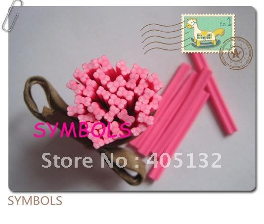 F-03 100 шт. 5 мм розовый лук Полимерная глина Кейн Необычные Дизайн ногтей Полимерная глина Кейн