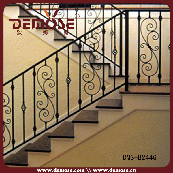 Why is wrought iron used for railings