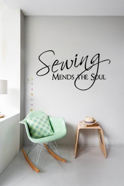 Sewing Mends The Soul Wall Pictures Living Room Wall Art
