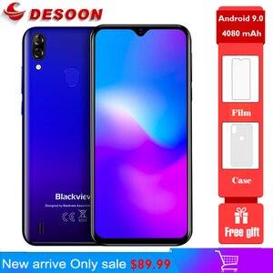 Мобильный телефон Blackview A60 Pro, экран 6,088 дюйма, четырёхъядерный процессор, Android 9,0, 4G, 3 Гб + 16 ГБ, Touch ID, Android 9,0 Pie, 4080 мАч, 4G телефон