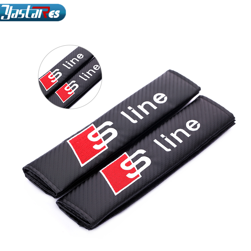 2 X Safe fit thickening car safety belt adjust device baby child safety belt protector For Audi S line A4 A3 A6 Q5 Q7 A5 TT A8