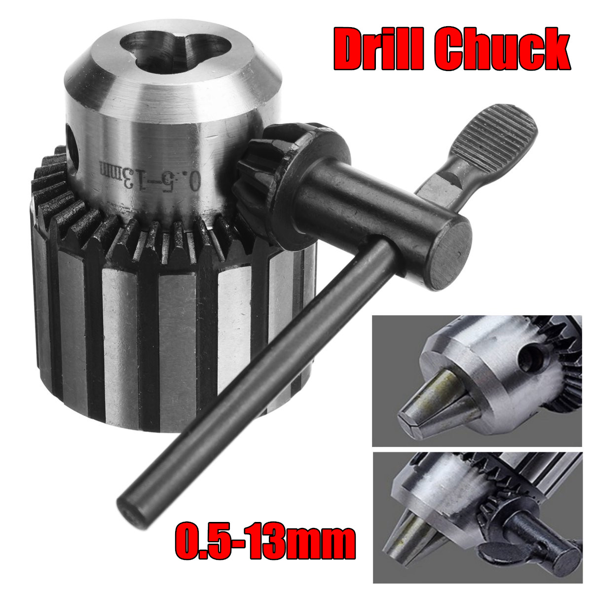 0.5MM - 13MM Key Type Lathe Drill Chuck B16 High Accuracy Taper Without Rod accuracy 0 05