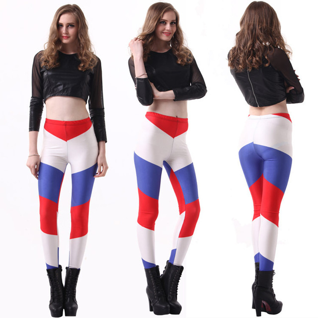 World Cup Galaxy Sexy Dutch Netherlands Flag Legging New Space Digital Print Women Leggings Pencil Pants Sexy Capris