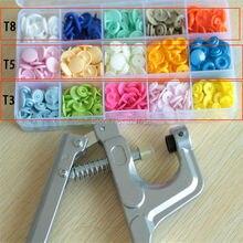 T3/T5/T8 KAM PLASTIKVERSCHLUSS-KNOPF großhandel kinder baby taste kombination anzug + handwerkzeuge