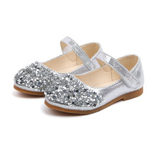 Fashion Kid Party Shoe For Little Girls Summer Sequin Leather Shoes Princess School Children Wedding 1 2 3 4 5 6 Year Old