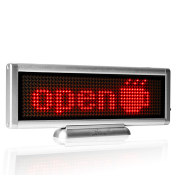 цена на 8.6 x 3 inch RED LED sign usb charging scrolling programmable Mobile rolling information indoor led display Board