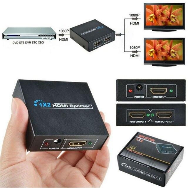 ViewHD 1x2 HDMI Splitter Amplifier v1.3b for 1080P HDTV & 3D
