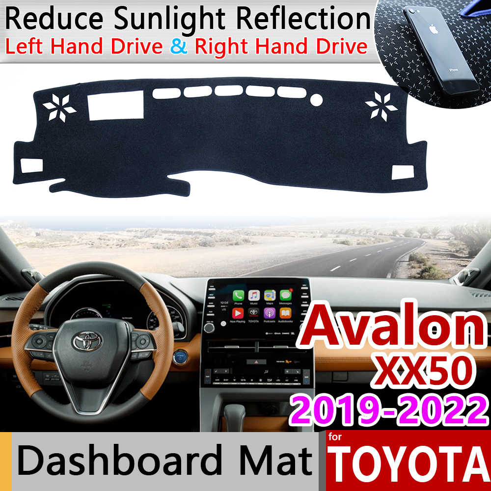 for Toyota Avalon 2019 2020 2021 2022 XX50 50 Anti-Slip Mat Dashboard Cover Pad Sunshade Dashmat Protect Carpet Car Accessories