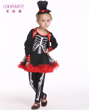 IDARMEE Design Girls Cosplay Human Skeleton Cute Dress  sc 1 st  AliExpress.com & Buy halloween costumes for kids skeleton and get free shipping on ...