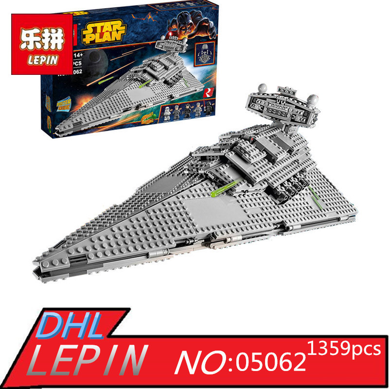 Imperial Star Destroyer Set Building Blocks LEPIN 05062 1359pcs Genuine Star Wars Series 75055 Bricks Educational Children Toys new 1685pcs lepin 05036 1685pcs star series tie building fighter educational blocks bricks toys compatible with 75095 wars