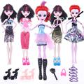 Cheapest! 17items Wizard Dolls Accessories Suit Dress+Shoes+Hangers+bag Fashion Clothes for Original Wizard Dolls