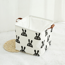 HONGRUI Foldable Laundry Basket Toys Clothes Books Organizer Cotton & Linen Storage Box Bin For Table Or Shelf