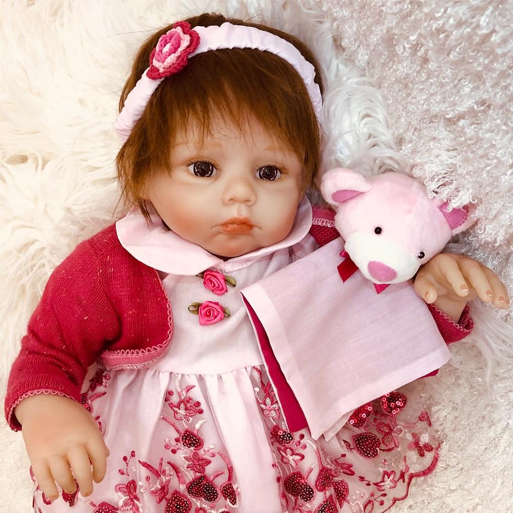 Reborn bébé poupée pour filles 50cm bebe réaliste reborn silicone bebe vivant poupées vinyle nouveau-né reborn bambin poupée jouets