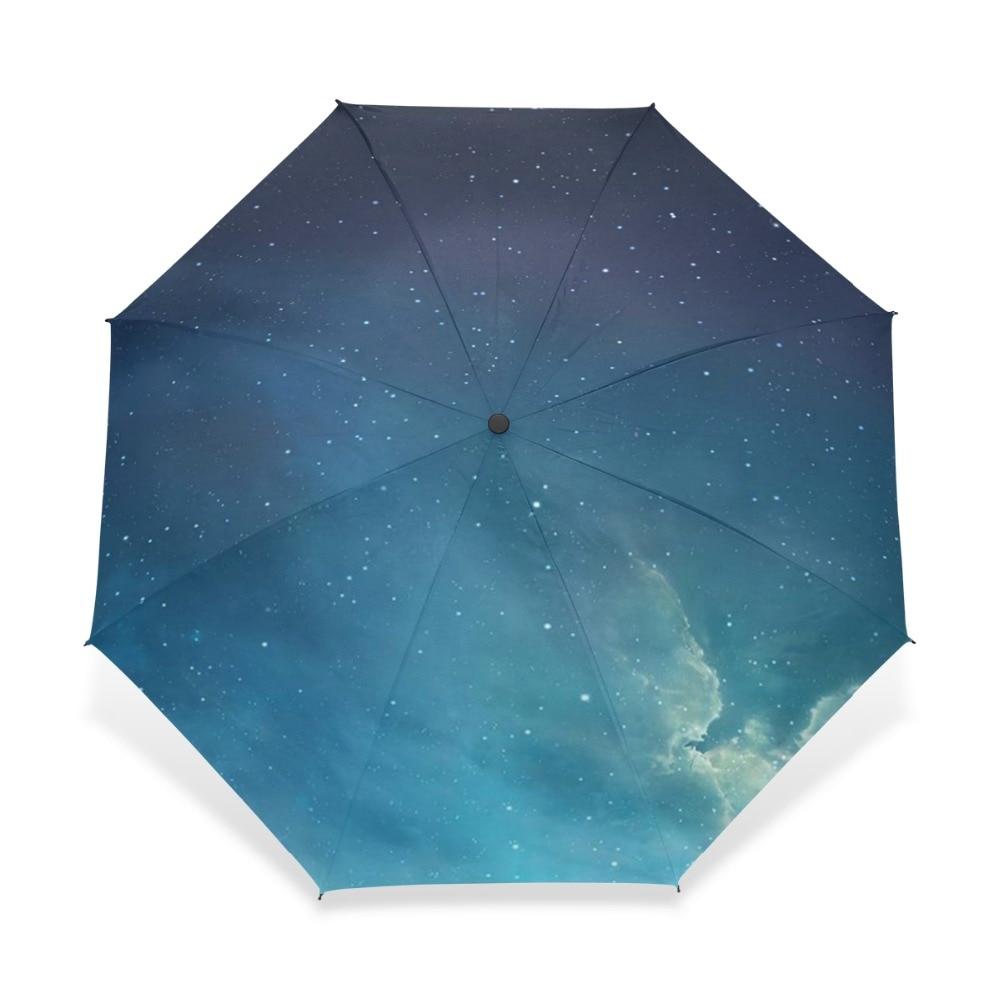 Via Lattea Galaxy Donne Pioggia Ombrello Pieghevole Ombrelloni Notte Stellata Femminile Ombrello di Sole Parasole Sky Paraguas