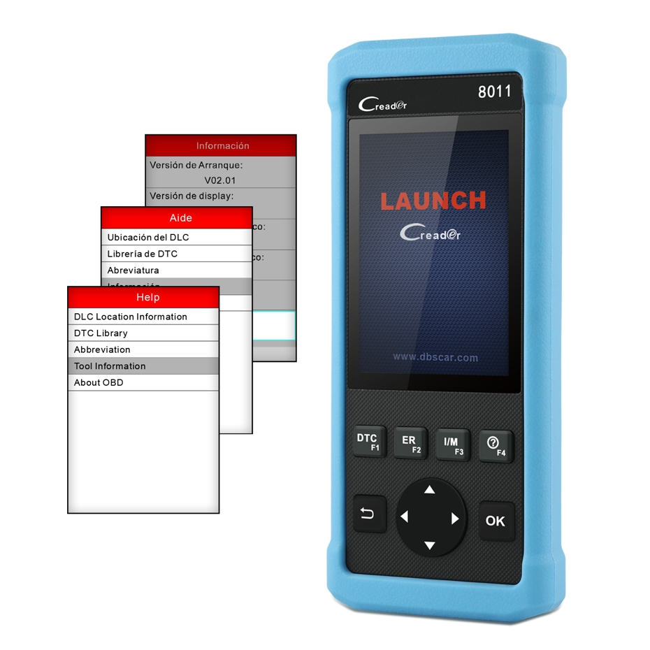 Launch Creader CR8011 full OBD Diagnostic Scanner Multi-Language ABS SRS EPB BMS