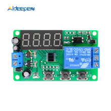 DC12V Time Delay Relay LED Digital Automation Delay Relay Trigger Time Timer Control Cycle Adjustable On Off Switch Relay Module 1s ah3 3 power on delay timer time relay 24vac plastic housing 8 pin