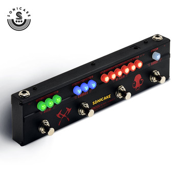 Sonicake Multi Guitar Effect Pedal BLACK HAMMER with 4 Functions in 1 Hi-Gain Distortion Chorus and Delay Effect QCE-30