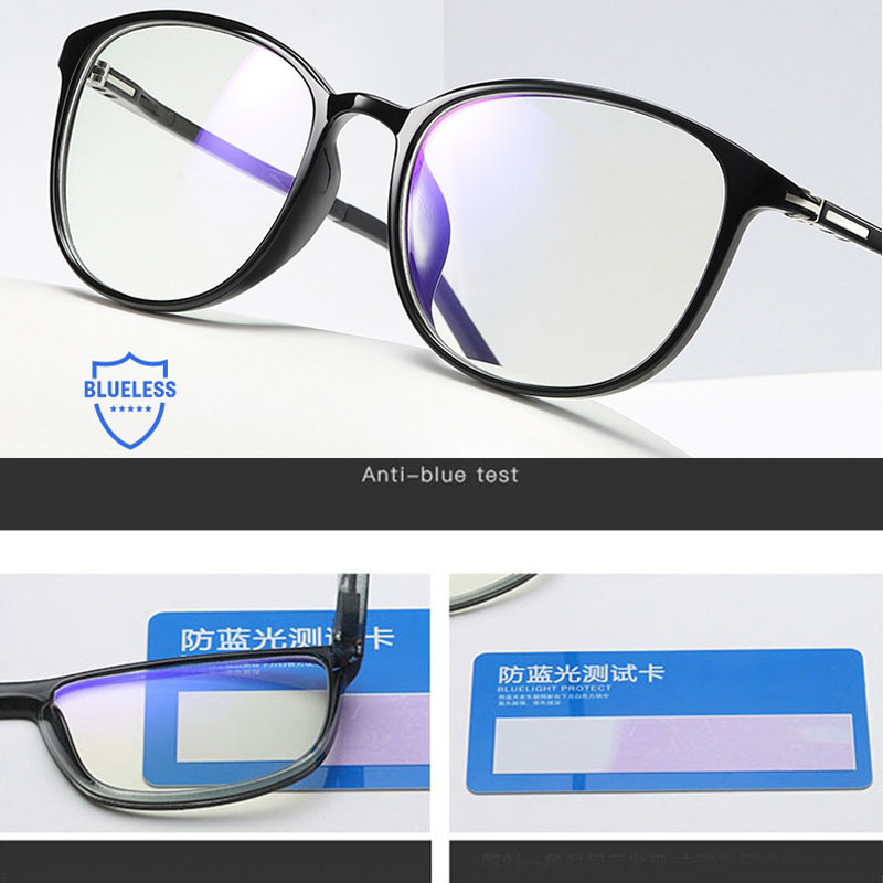 Iboode Glasses Frame Fashion Anti Blue Ray Radiation Protection Blue Light Blocking Glasses Square Anti Fatigue Computer Goggles