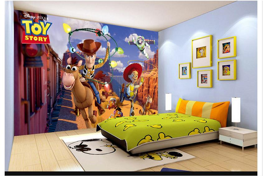 Custom 3d photo wallpaper 3d wall murals wallpaper Creative toy story 3d TV setting wall mural ...