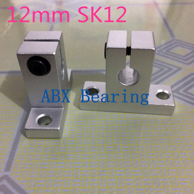 2pcs/lot SK12 SH12A SH12 12mm linear bearing rail shaft support XYZ Table CNC Router