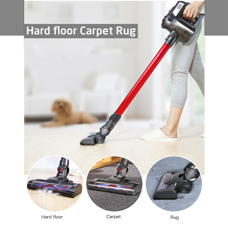 Dibea C17 Cordless Stick Handheld Vacuum Cleaner Dust Collector Aspirator Docking Station Portable Sweeper Wireless Cleaner