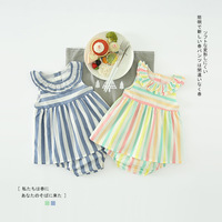 Baby Girl Clothing Newborn Baby Girls Clothes Set Striped Sleeveless Dress Shorts Girls Summer Boutique Outfits