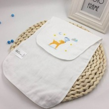 3PCS Cotton Bibs Baby Feeding Smock Infant Burp Cloths Cartoon Sucking Sweat Towel Baby Eating Accessory Soft Baby Stuff