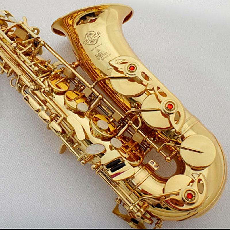 Nuovo Francese Sassofono Contralto 802 Oro Lacca Sassofono Contralto SA80 II Strumenti Musicali Intermedio Professionale Incluso Caso