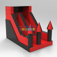 birthday parties home use inflatable dry slide kids castle cheap