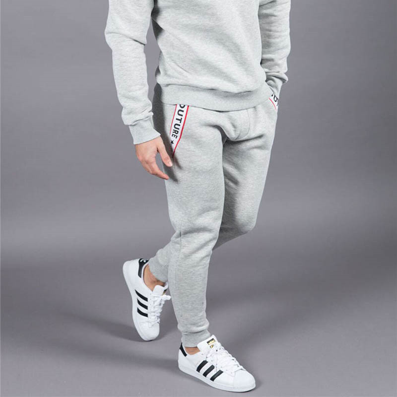 New Men Joggers Brand Male Trousers Casual Pants Sweatpants Jogger Dark grey Casual Elastic cotton GYMS Fitness Workout pan
