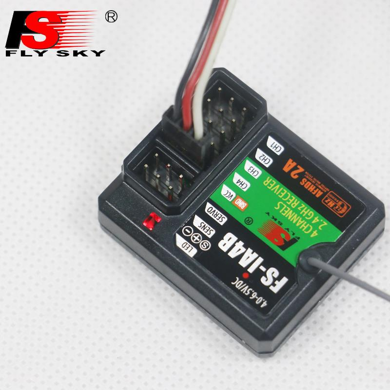 FlySky FS-IA4B 2.4G 4CH Receiver Support Data Backhaul PPM Output iBus Port for FS i4 i6 i10 iT4S Transmitter RC Car Boat F16812