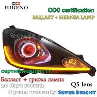 Hireno Modified Headlamp For Honda Fit Jazz 2009 2011 Headlight Assembly Car Styling Angel Lens Beam