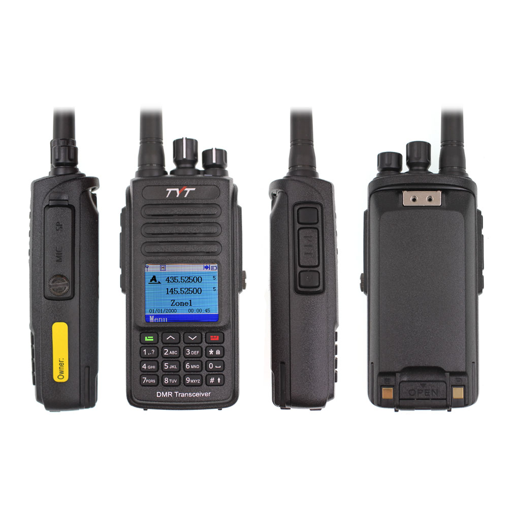 TYT MD-UV390 DMR Digital Walkie Talkie UV390 IP67 Waterproof Dual Band UV transceiver GPS Optional Upgrde of MD-390 + USB cable