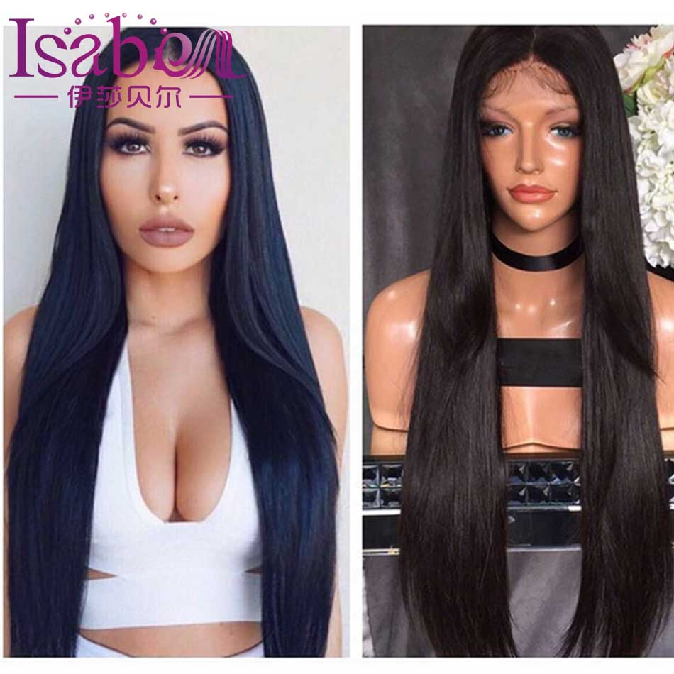 2017 New 9A Unprocessed Human Hair Wigs Straight Full Lace Human Hair Wigs For Black Women Cheap Lace Front Human Hair Wigs