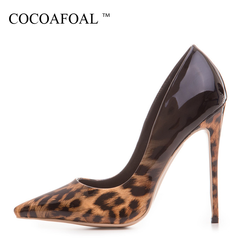 COCOAFOAL Woman Leopard Pumps Plus Size 33 - 43 Fashion Sexy Stiletto Party Wedding Pumps Autumn 12 CM Ultra High Heels ShoesCOCOAFOAL Woman Leopard Pumps Plus Size 33 - 43 Fashion Sexy Stiletto Party Wedding Pumps Autumn 12 CM Ultra High Heels Shoes