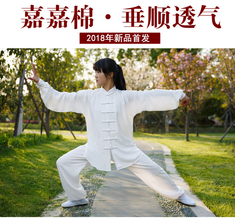 Traditional Chinese Kung Fu Costume Martial Arts Taiji Uniform Suits Long Sleeve Men Women Chinese Dress Tops Pants Clothes 3XL