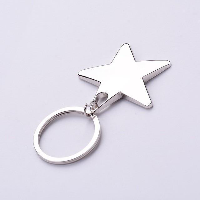 aliexpress com buy 1 piece star keychain keyring zinc alloy star