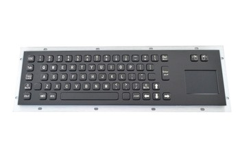 Stainless steel keyboard Black Touch the keyboards Industrial one keyboards weatherproof keypads IP65 keyboards