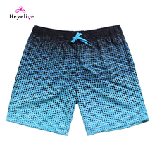 New Browsing Board Shorts 2016 Fast Dry Seaside Bathing Quick Males Blue Board Shorts Seaside Uomo Swimwear Breve Hotsale Seaside Shorts