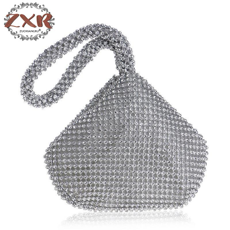 Ragazza Alta Di Del 2 Vestito Della Modo Sera Brillante Diamanti Lampo Progettista 1 Marca 3 Borse Da Donne Pochette Solido Qualità Chiusura ZzqdZ
