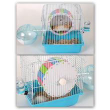 Creative Wood Plastic Plat Hamster Exercise Toy Mouse Rat Mice Cage Accessories Sports Running Spinner Wheel Pet Hamster Toys(China)