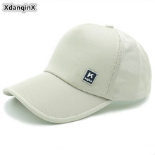 XdanqinX Snapback Cap Summer Womens Ponytail Baseball Caps Mens Mesh Breathable Sports  Adjustable Size Fashion Couple Hat