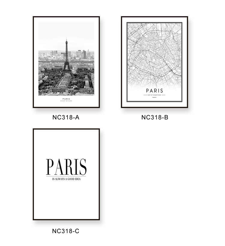 Paris Map Black And White.Detail Feedback Questions About Nordic Art Black And White City