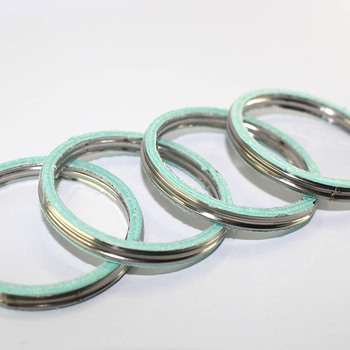 4 PCS FOR HONDA FMX650 VF750C VF750C2 VF750CD CB900 CB900F CBR900RR CB1000R CB1000RA CBR900 RR exhaust gasket ring parts image