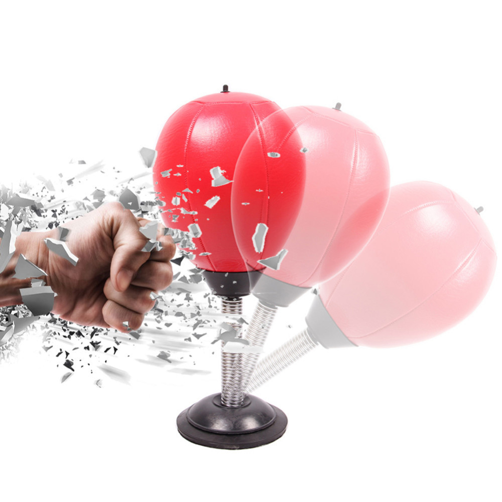 Desktop Punching Ball Suction Freestanding Reflex Speed Ball Boxing Bag Punching Pedestal Ball With Free Inflator Random color