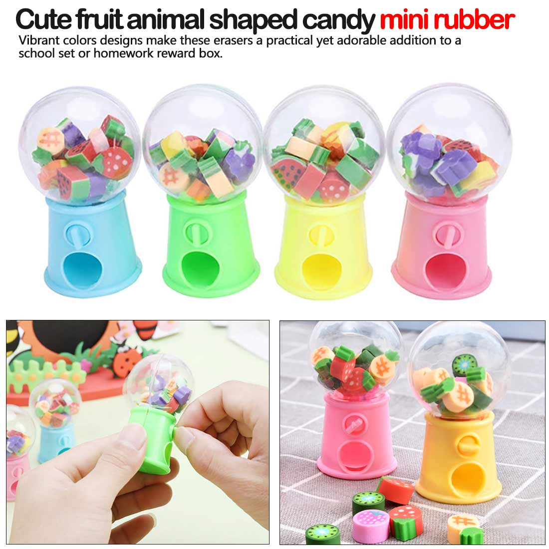 Mini Cute Kawaii TPR Eraser Creative Dinosaur Eraser For Kids Gift Korean Stationery Student