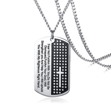 51MM stainless steel Christian scripture color mens pendant